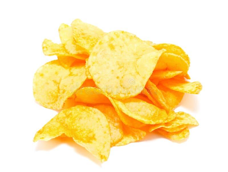chiper isolerade potatiswhite arkivfoton