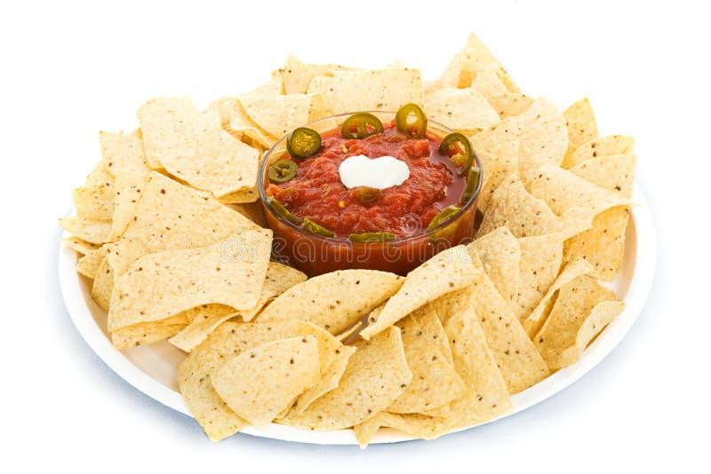 chiper isolerade salsa arkivfoto