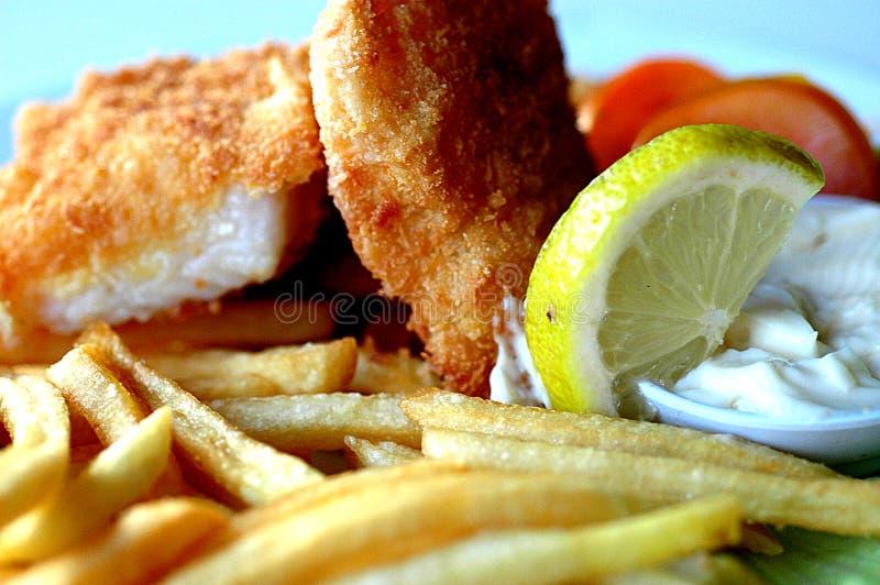 chiper stänger upp fisken royaltyfria foton