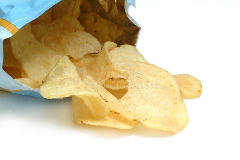 chiper stekte potatisen royaltyfri fotografi