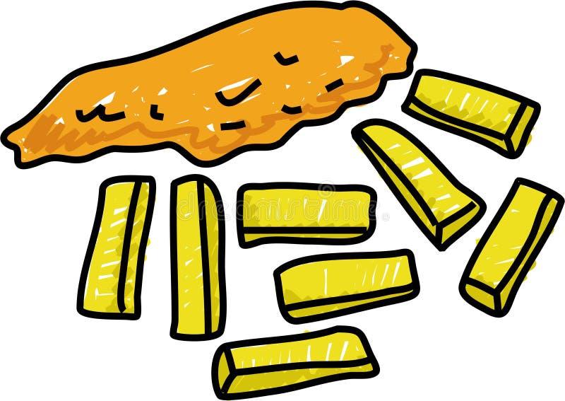 chipfisk vektor illustrationer