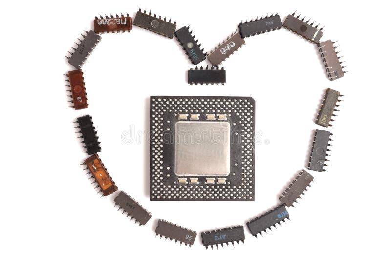 chiphjärta arkivbild