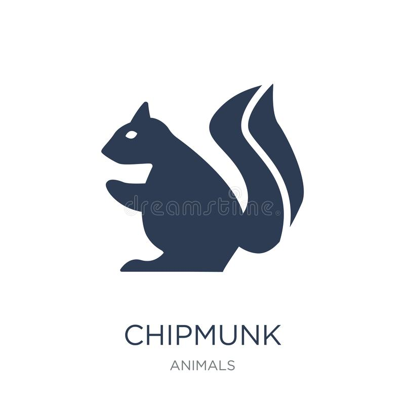 Chipmunk icon. Trendy flat vector Chipmunk icon on white background from animals collection vector illustration