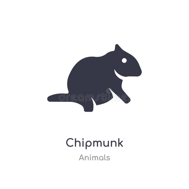 Chipmunk ikona odosobnionej chipmunk ikony wektorowa ilustracja od zwierząt inkasowych editable ?piewa symbol mo?e by? u?ywa dla  royalty ilustracja