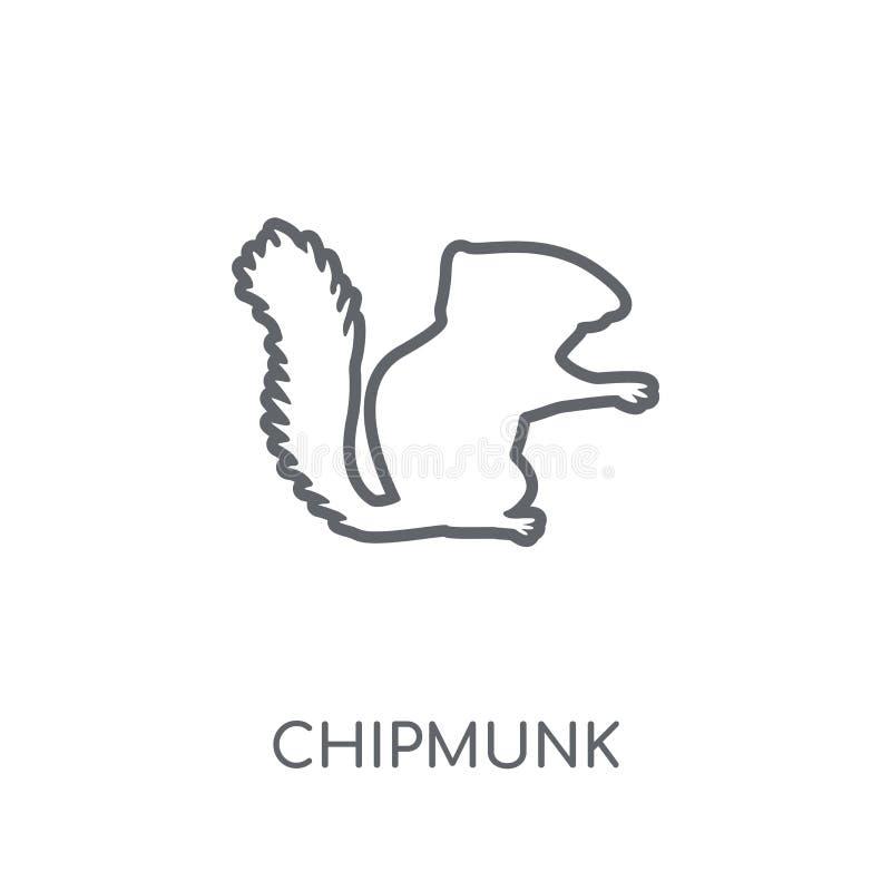 Chipmunk linear icon. Modern outline Chipmunk logo concept on wh stock illustration
