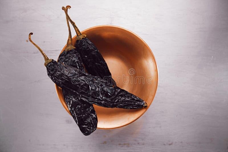 Chipotle - peperoncino rosso affumicato del jalapeno fotografia stock libera da diritti