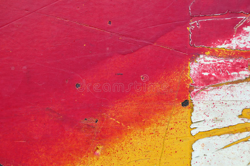 Chipped paint. On industrial painted metal texture stock image