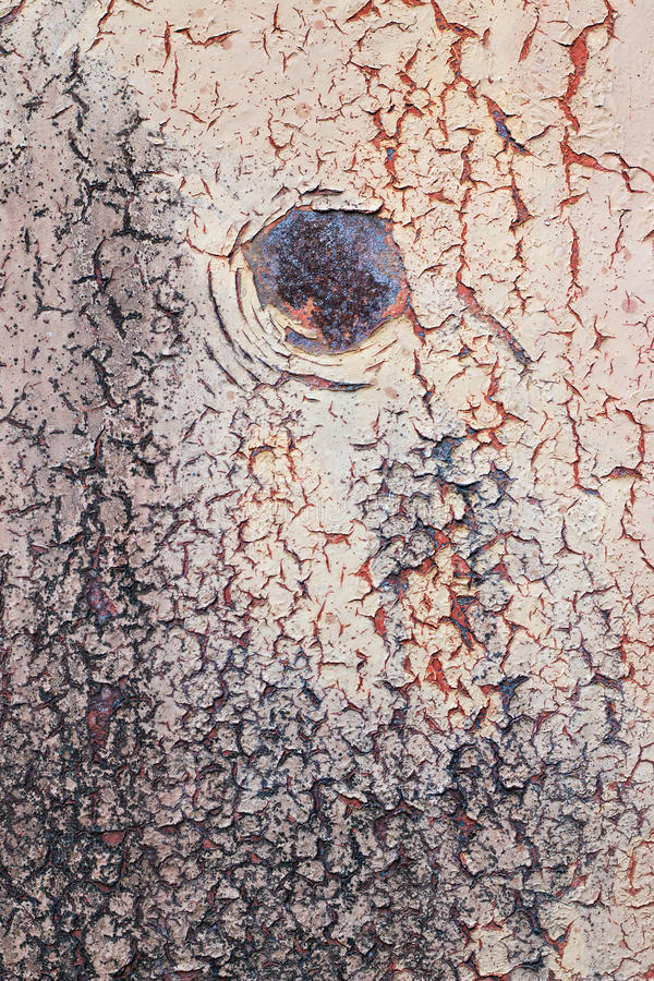 Chipped Paint On Rusty Metal royalty free stock image