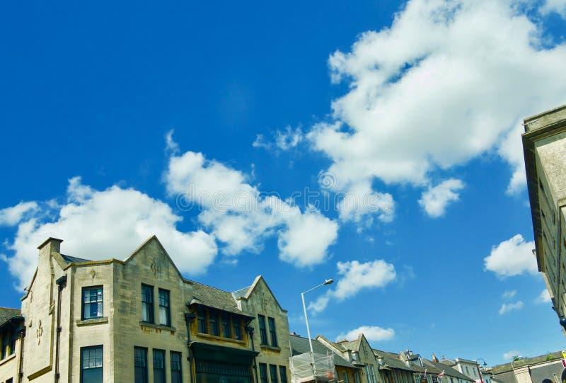 Clouds over Chippenham. Chippenham Wiltshire England united kingdom stock image