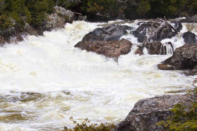 Chippewa Falls. Chippewa Fall in Ontario Canada royalty free stock images