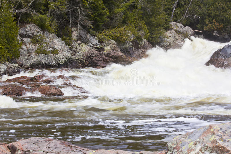 Chippewa Falls. Chippewa Fall in Ontario Canada stock photography