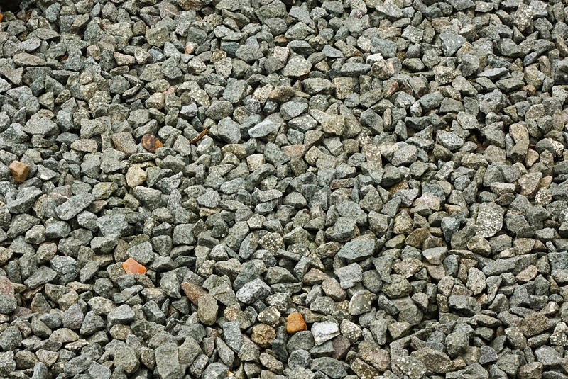 Chippings de la piedra decorativa fotografía de archivo libre de regalías