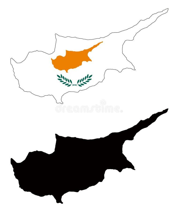 Chipre ilustração royalty free