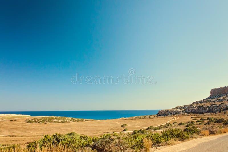 Chipre Ayia Napa, península de Greco do cabo, Forest Park nacional fotos de stock royalty free