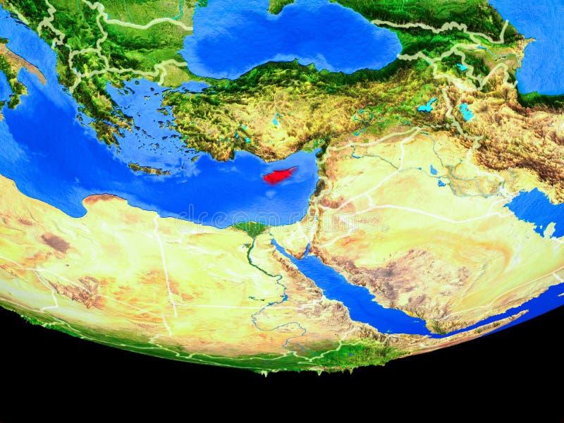Chipre del espacio en la tierra libre illustration