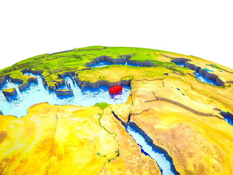 Chipre en la tierra 3D ilustración del vector