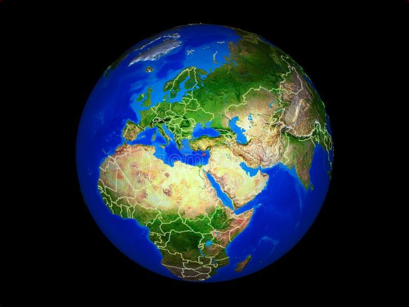 Chipre en la tierra del espacio libre illustration