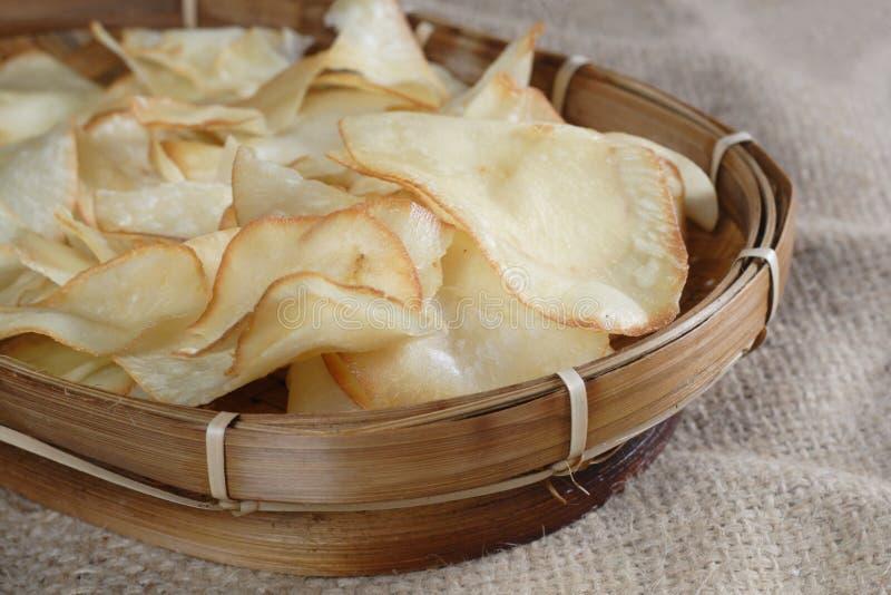 Chips Cassava royaltyfria foton