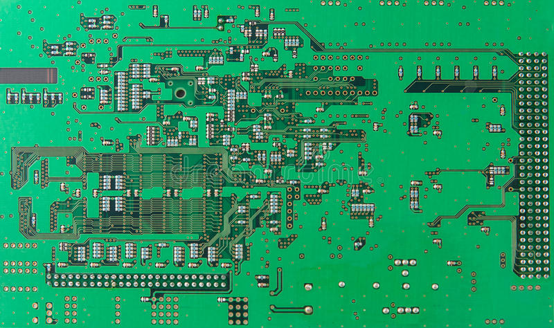Chips And Components With Electronic Circuit Board Stock Image ...