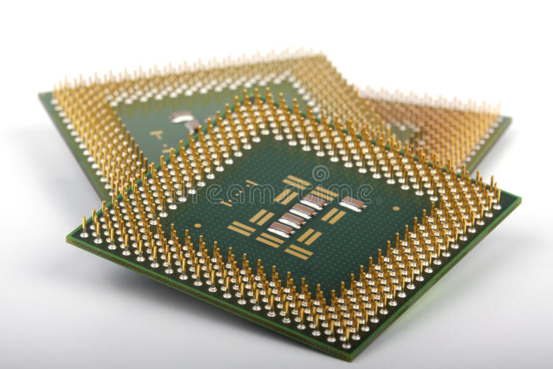 chips datoren arkivbild