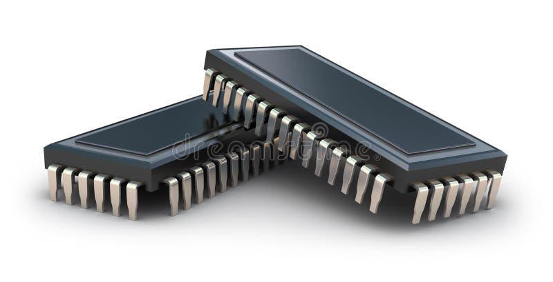 Chips de ordenador stock de ilustración