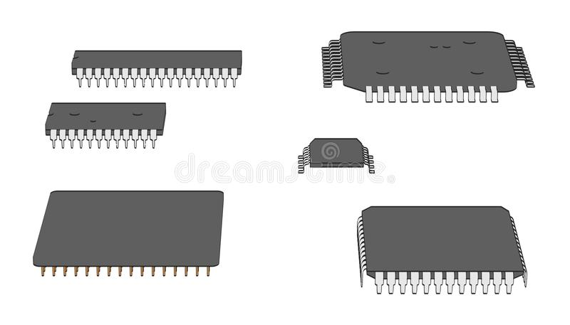 Chips de ordenador ilustración del vector
