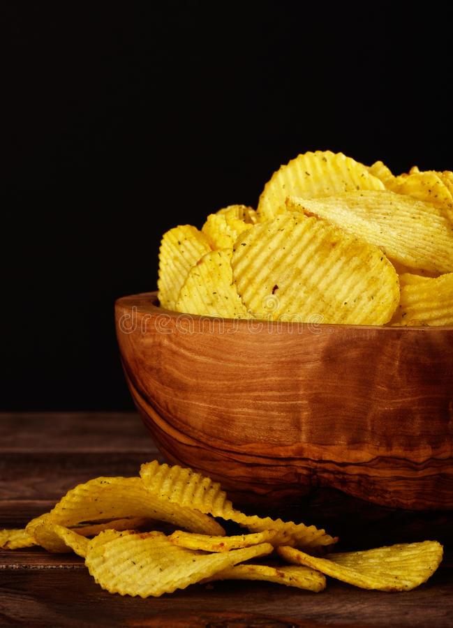 chips den skvalpade potatisen arkivfoton