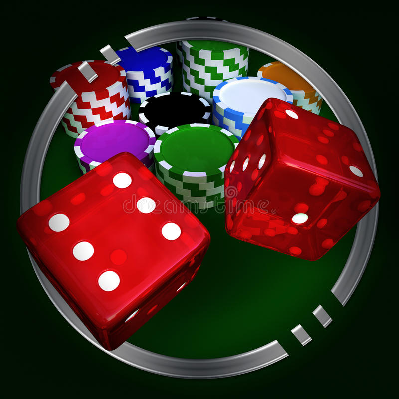Download Chips And Dices Stock Photo - Image: 12876920