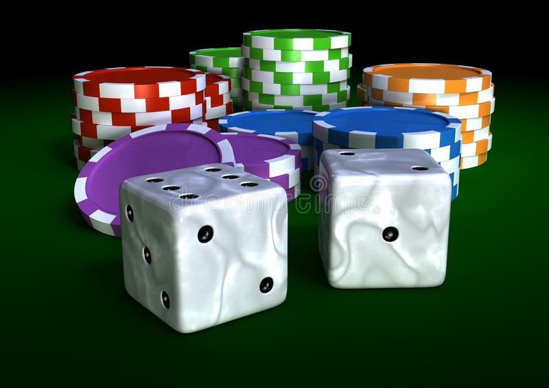 Download Chips and dices stock illustration. Image of chips, background - 13348971