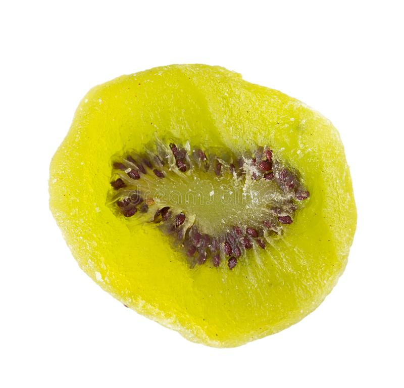 Chips of dried kiwi fruit. stock images