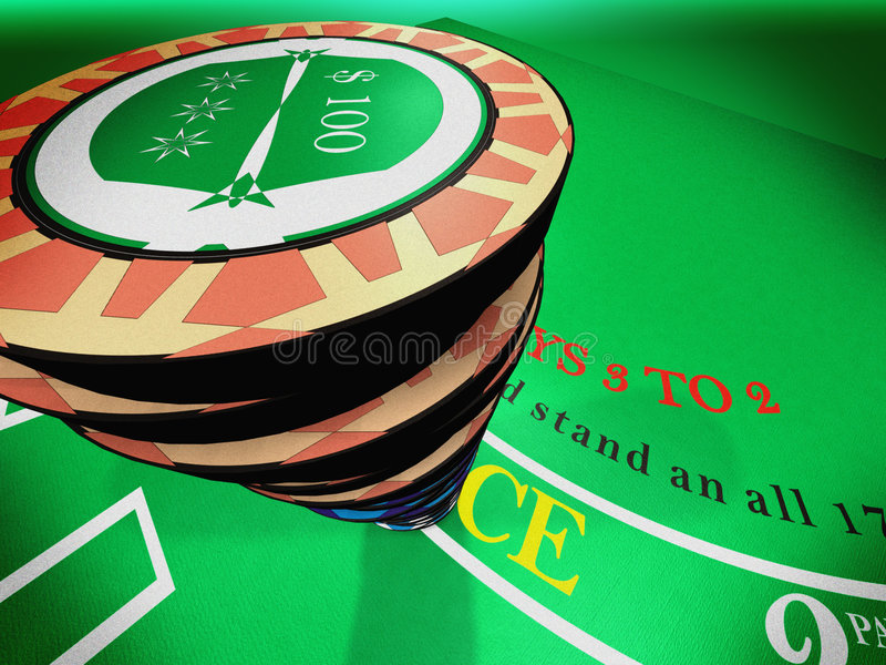 Chips N Bet Royalty Free Stock Photos