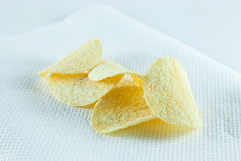 Chips op weefsel. royalty-vrije stock foto