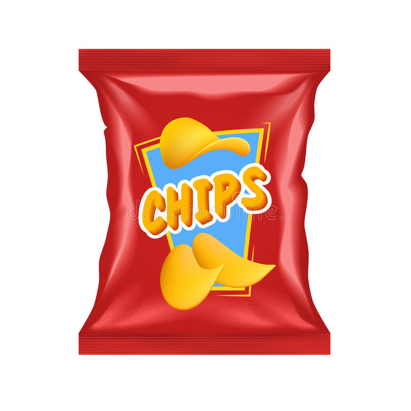 Chips Package realista libre illustration