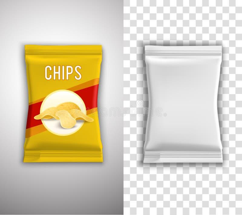 Chips Packaging Design ilustración del vector