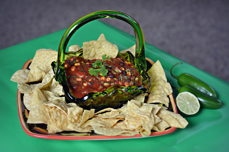 Chips and Salsa stock photos