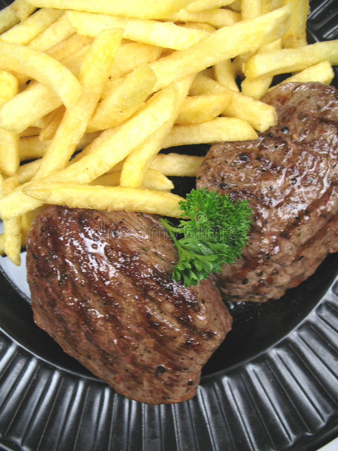 chips steak arkivfoton