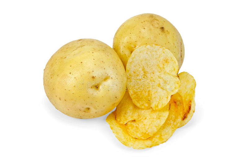 Chips with yellow potato stock photography