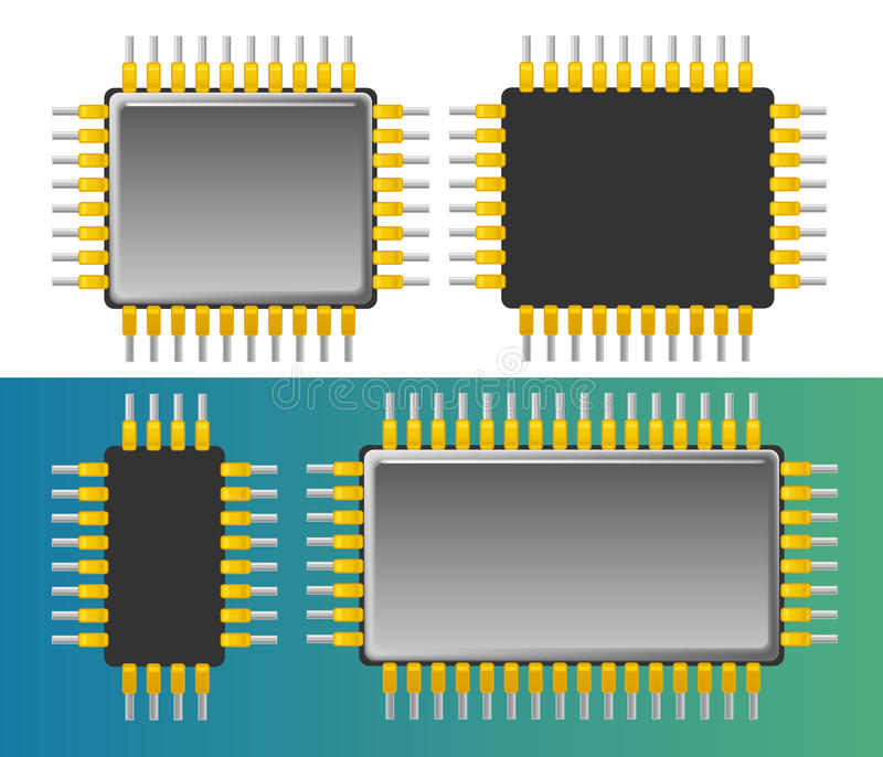 Chipset ilustración del vector