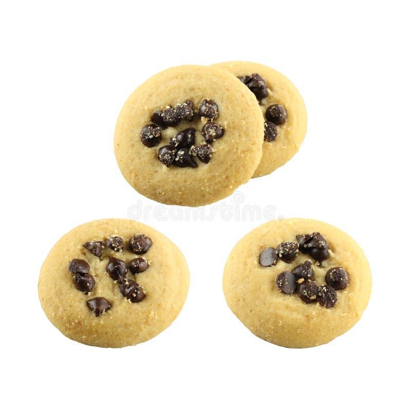 Chipset del cioccolato e del biscotto fotografie stock libere da diritti
