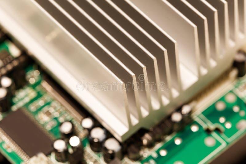 Chipset heatsink stock afbeelding