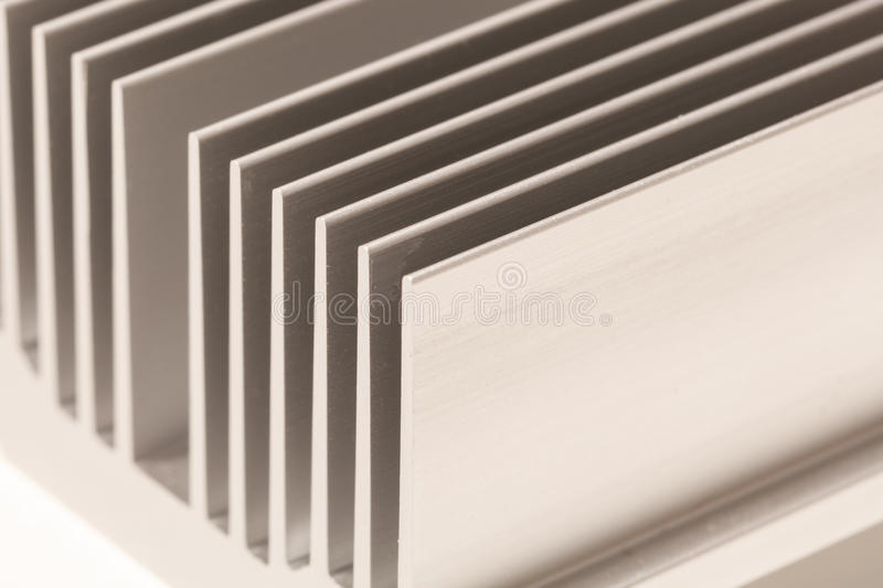Chipset heatsink. Close up of a chipset heatsink on motherboard stock photography