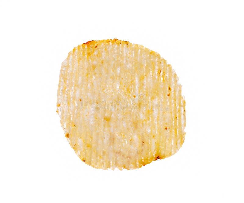 Chipsy ziemniaczane wyizolowane na białym tle obraz royalty free