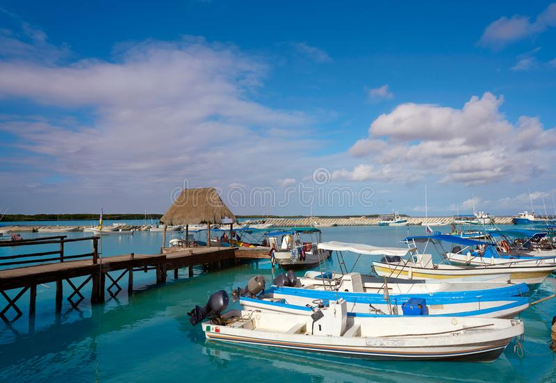 Chiquila port in Quintana Roo Mexico. Crossing ferry point to Holbox stock photos