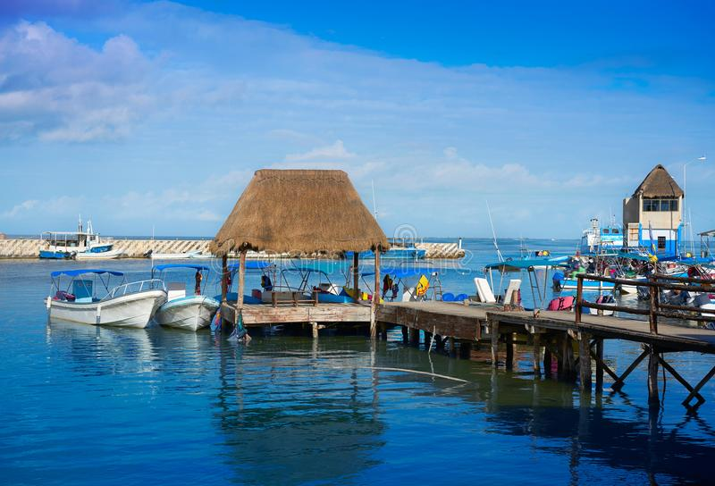 Chiquila port in Quintana Roo Mexico. Crossing ferry point to Holbox royalty free stock images