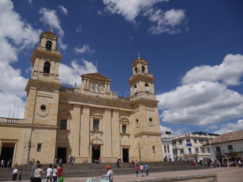 Chiquinquirà ¡是一个镇和自治市在Boyacà ¡的哥伦比亚的部门 免版税图库摄影