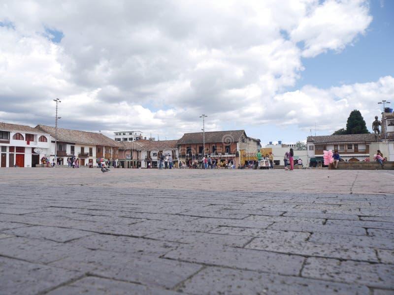 Chiquinquirà ¡是一个镇和自治市在Boyacà ¡的哥伦比亚的部门 图库摄影