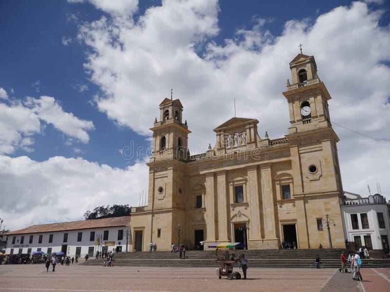 Chiquinquirà ¡是一个镇和自治市在Boyacà ¡的哥伦比亚的部门 库存照片