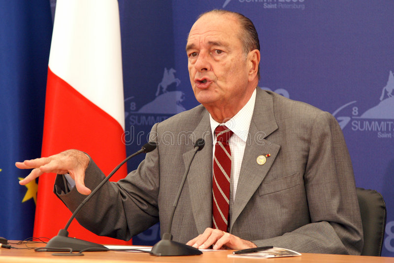 chirac jacques royaltyfria foton