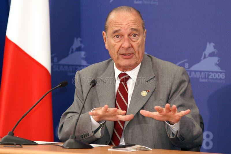 chirac jacques arkivfoton