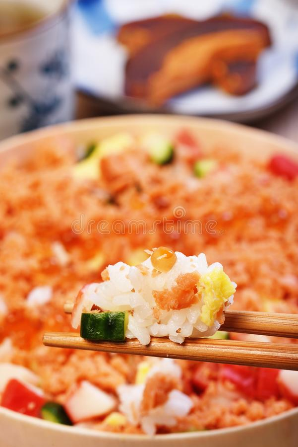 Chirashi寿司碗 库存照片